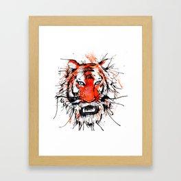 tigerish Framed Art Print