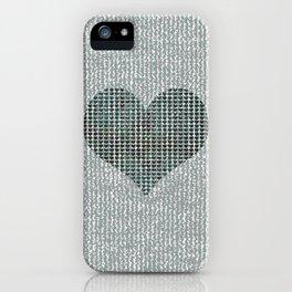 Vintage hearts iPhone Case