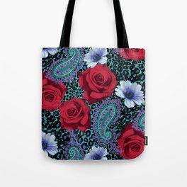 Rose Paisley w skin Tote Bag
