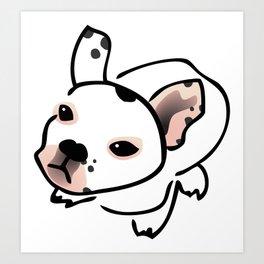 French Bulldog Pup Drawing Art Print