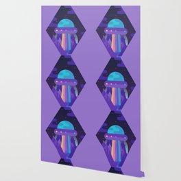 ROYGBIV Flying-Saucer Wallpaper