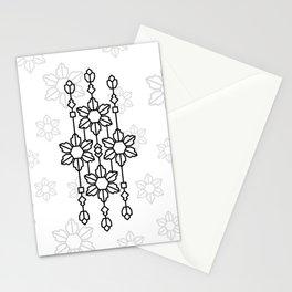 art fabric batik pettern Stationery Cards