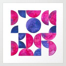 Pink abstract pattern Art Print
