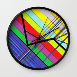 Diagonal Color Wall Clock