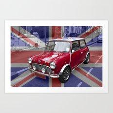 British Classic Mini car Art Print