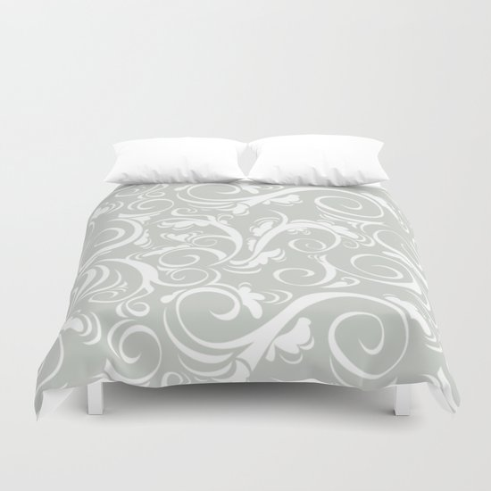 Floral Sea Salt Duvet Cover