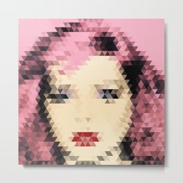 Debbie Harry - Geometric Triangles Metal Print