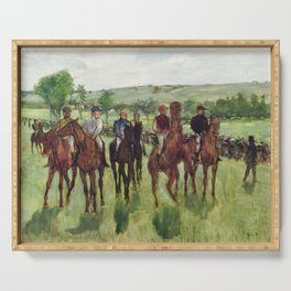 The Riders (ca. 1885) by Edgar Degas. Serving Tray