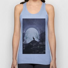 howling under the moon Unisex Tank Top
