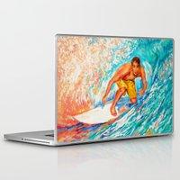 surfer Laptop & iPad Skins featuring Surfer by LiliyaChernaya
