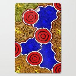 Authentic Aboriginal Art - Circles Cutting Board
