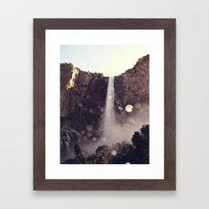 Mountain Waterfall Framed Art Print