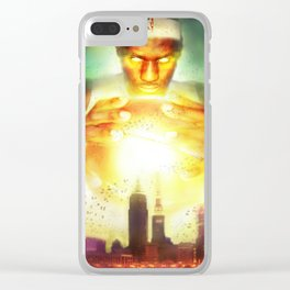 The Titan of Cleveland Clear iPhone Case