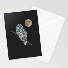 Owl, See the Moon (Barred Owl) Stationery Cards