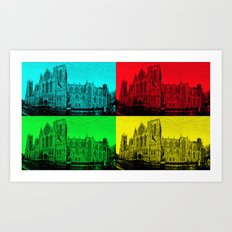 York Minster Pop Art Art Print