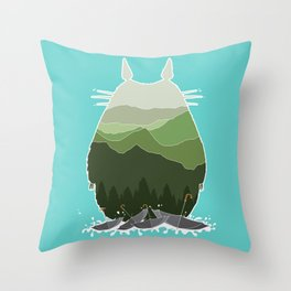 No more rainy days Throw Pillow