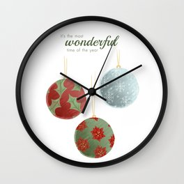 Wonderful Christmas Wall Clock