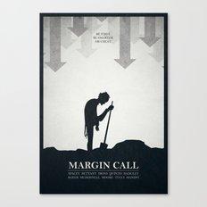 Margin Call - minimal poster Canvas Print