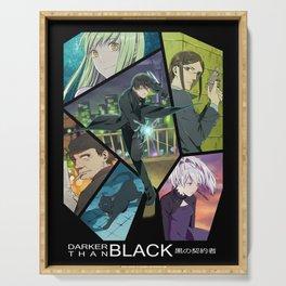 Darker Than Black Anime Poster Serving Tray