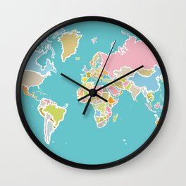 Map Print Wall Clock