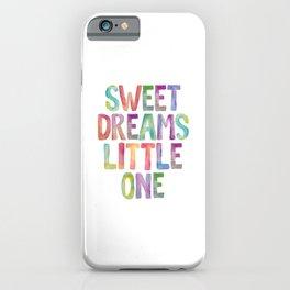 Sweet Dreams Little One iPhone Case