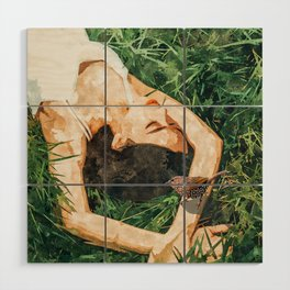 Jungle Vacay #painting #portrait Wood Wall Art