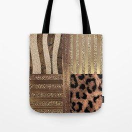 Gold Lioness Safari Chic Tote Bag