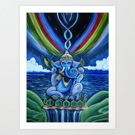 Rainbow Ganesh Art Print