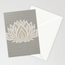 Lotus Meditation Through Pillow (grey/stripes)Lotus Meditation Through Pillow (grey/stripes) Stationery Cards
