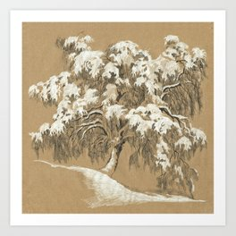 Winter tree 01 Art Print