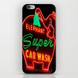 Elephant Super Car Wash iPhone Skin