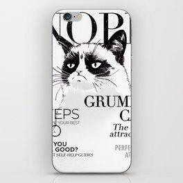 Grumpy the cat iPhone Skin