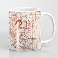 louis Mugs featuring Saint Louis by MapMapMaps.Watercolors