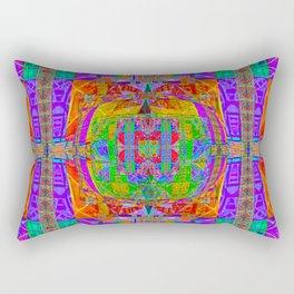 Geometric Futuristic Quilt 1: Space Cape Rectangular Pillow