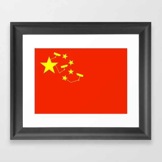 China Is Watching Framed Art Print