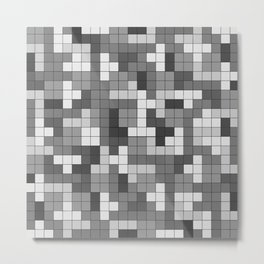 Tetris Camouflage Urban Metal Print