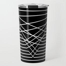 Line Complex Dark Triangle Travel Mug