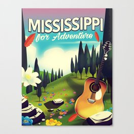 Mississippi For adventure Canvas Print