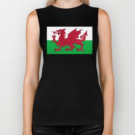 Flag of Wales - Hi Quality Authentic version Biker Tank