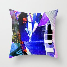 Blissful Purple Throw Pillow