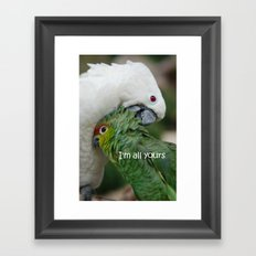 In Love - I'm all yours Framed Art Print