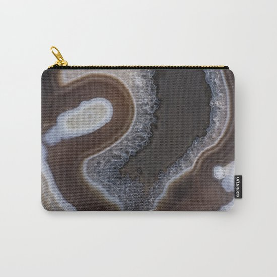 Agate crystal texture Carry-All Pouch