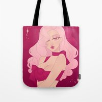 minnie Tote Bags featuring Merry Minnie by Petite Passerine