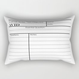 Cornell Notes Rectangular Pillow