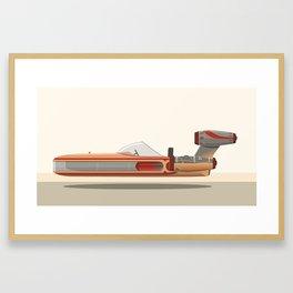 Luke Skywalker's Landspeeder Framed Art Print