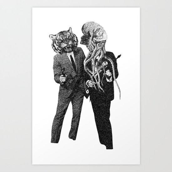 The Made Us Detectives (1979) Monochrome Art Print