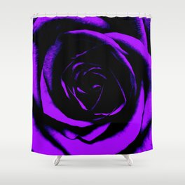 Purple Rose : Pretty Flowers Shower Curtain