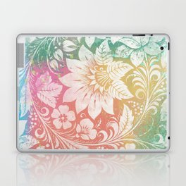 Abstract Pattern:  Watercolor Summery Brights 1 Shabbalicious Floral Orange Laptop & iPad Skin