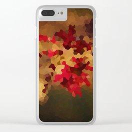 Autumn Colors Clear iPhone Case