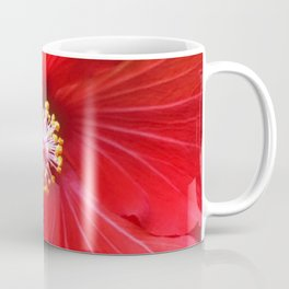 Fruit Punch Hibiscus, red flower close up, in my hipster garden Coffee Mug